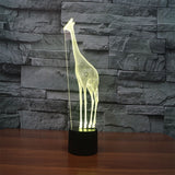 Giraffe 2 3D Illusion Night Light  LED Light 6 Color with Touch Switch USB Cable