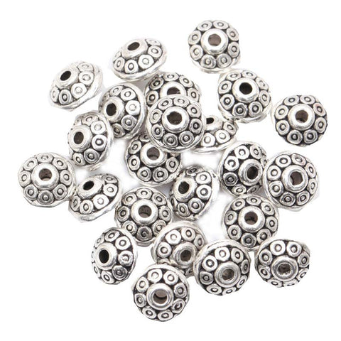 100 PIECE TIBETAN SPACER CHARMS & BEADS