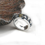 Sterling Silver Steampunk Skull Rotatable Ghost Ring