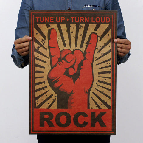 Rock On Dudes Vintage Style Poster