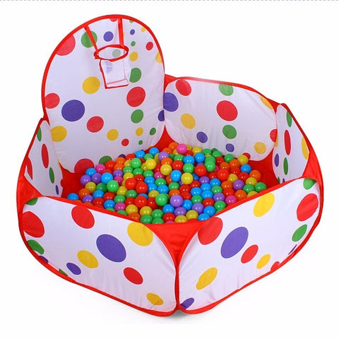 Hexagon Polka Dot Children Ball Play Pool Tent, Suitable for Kids Playing Inside Or Our