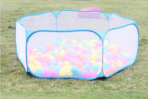120cm Safety Baby Playpen, Kids Portable Square Net Ocean Pit Ball Pool Play Toy Tent