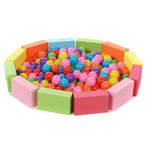 50 Piece Baby Eco-Friendly Colorful Soft Plastic Stress Air Ball, Colorful Balls, Toys Outdoor Fun Sport for Play Pit Ball Pool