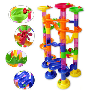 105 Piece, Do-It-Yourself, Construction Marble Race Run Maze Balls Pipeline Type Track, Building Blocks, Baby Educational Block Toy For Children
