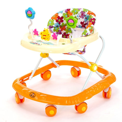 Baby Walker, Anti Rollover Baby Walker with Wheels, Cartoon Style, Durable Activity Walker