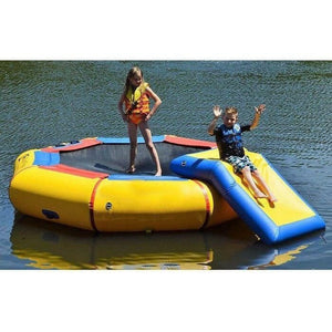 "10' Bounce N Splash Springless Water Bouncer w Slide ""Water Park"""
