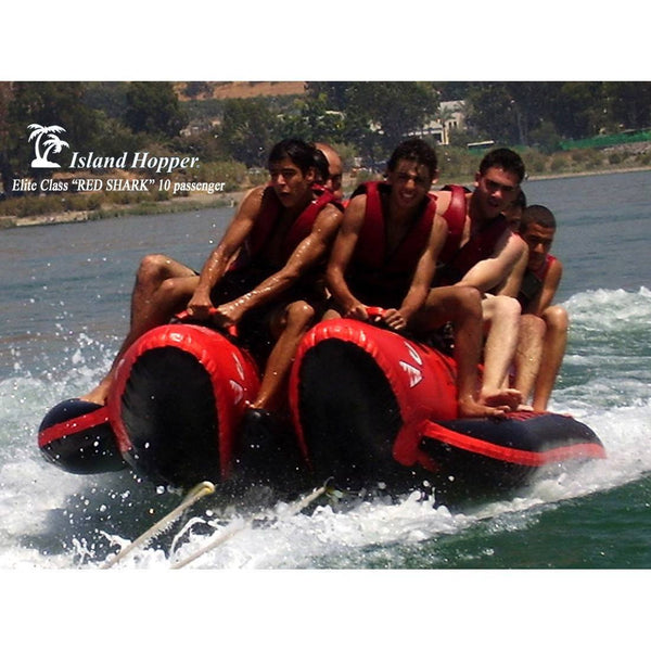 "10 Passenger Red Shark Banana Boat ""Elite Class""-Island Hopper-YardKid"