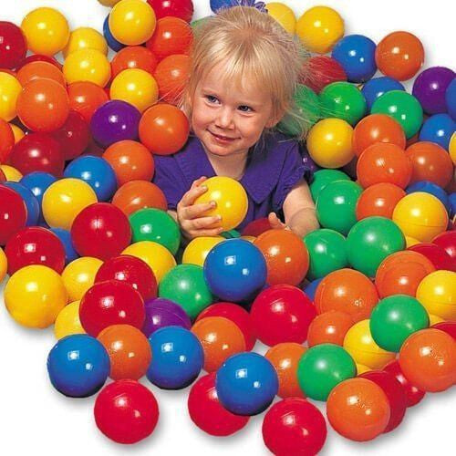 100 Multi-Colored PVC Balls-KidWise-YardKid