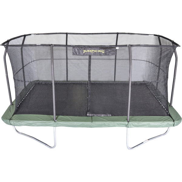 10'x15' Rectangle Trampoline with Enclosure-Jumpking-YardKid