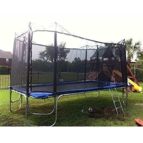 10x17 Rectangle Texas Star Trampoline with Enclosure-Texas Trampoline-YardKid
