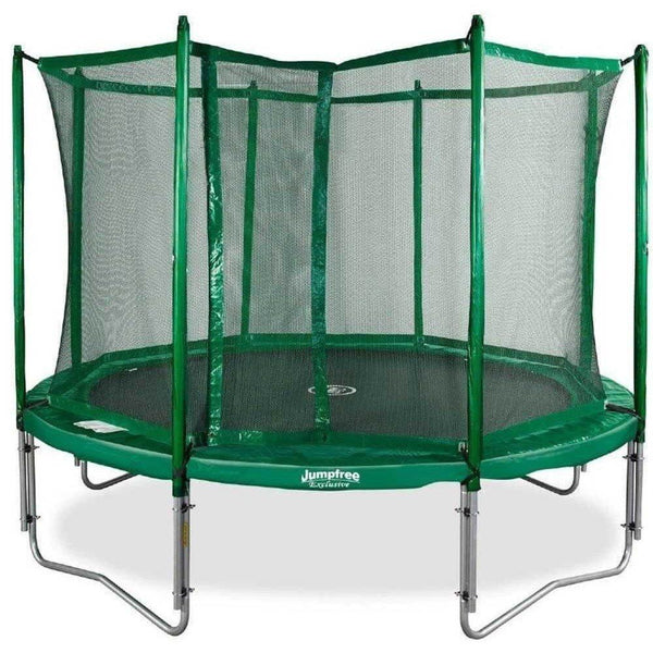 Kidwise Jumpfree 15 Ft Trampoline And Safety Enclosure: 12ft JumpFree Round Trampoline With Enclosure 812006013553