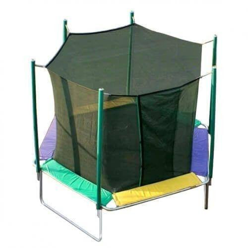 12' Magic Circle Hexagon Trampoline with Enclosure-KidWise-YardKid