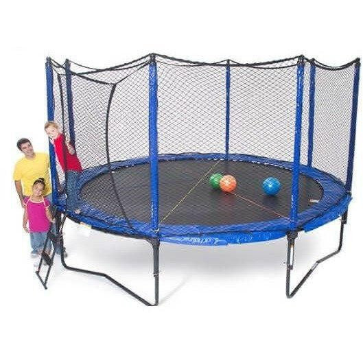 14' SoftBounce Round Trampoline with Enclosure-JumpSport-YardKid