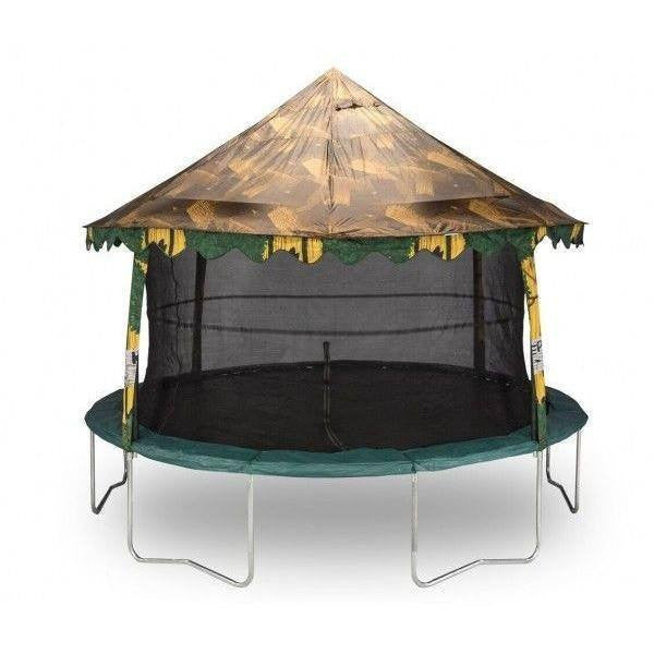 14ft Trampoline Canopy In Treehouse Camouflage -Jumpking