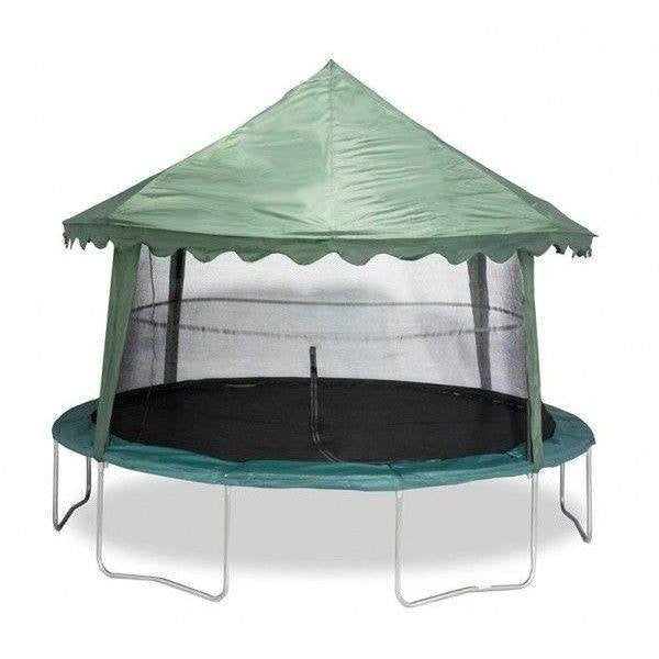 14' Trampoline Canopy - Green-Jumpking-YardKid