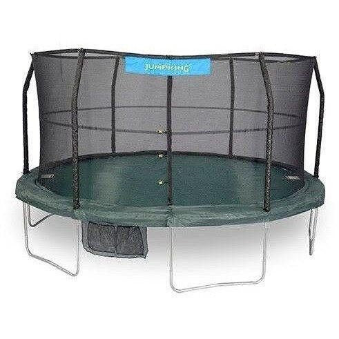 15' Round Trampoline with Enclosure-Jumpking-YardKid
