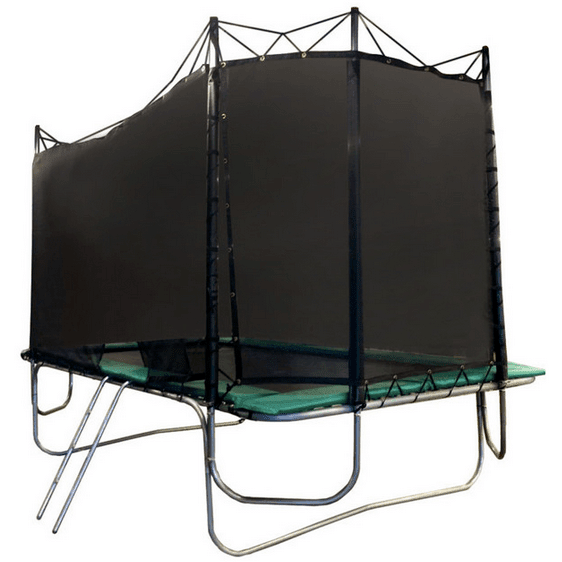Texas Trampoline Extreme Green 15 X 17 Ft Rectangle With: 15x17 Rectangle Texas Extreme Trampoline With Enclosure