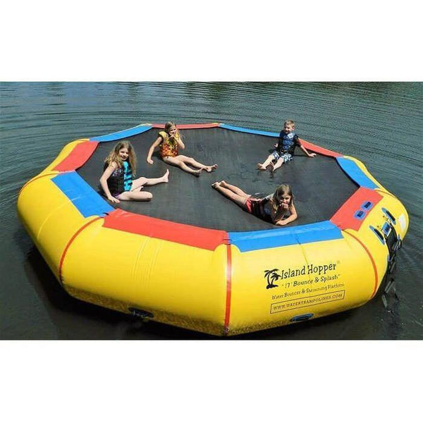 17' Bounce & Splash Springless Water Bouncer-Island Hopper-YardKid