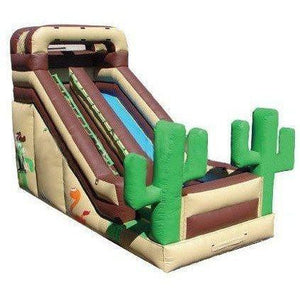 18' Commercial Single Lane Inflatable Slide - Western
