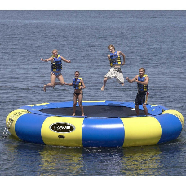 20' Aqua Jump Eclipse 200 in Yellow / Blue-RAVE Sports-YardKid