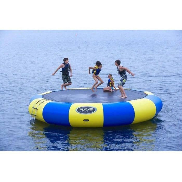 20' Bongo Springless Water Bouncer in Yellow / Blue-RAVE Sports-YardKid
