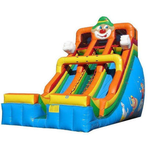 24' Commercial Double Lane Inflatable Slide - Circus Clown