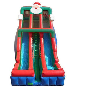24' Commercial Double Lane Inflatable Slide - Santa