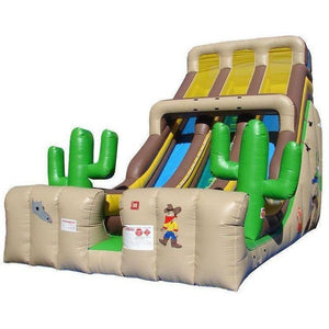 24' Commercial Double Lane Inflatable Slide - Western