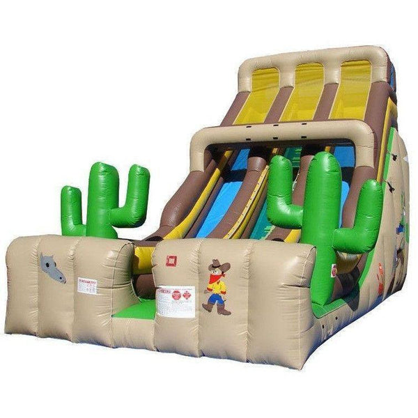 24' Commercial Double Lane Inflatable Slide - Western-Happy Jump-YardKid