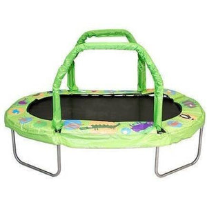 "38"" x 66"" Mini Oval Trampoline w Green Pad"