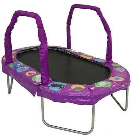"38"" x 66"" Mini Oval Trampoline w Purple Pad-Jumpking-YardKid"