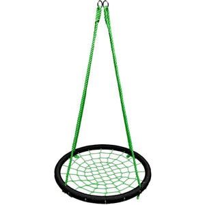 "40"" Giant Round Tree Swing - Black & Green"