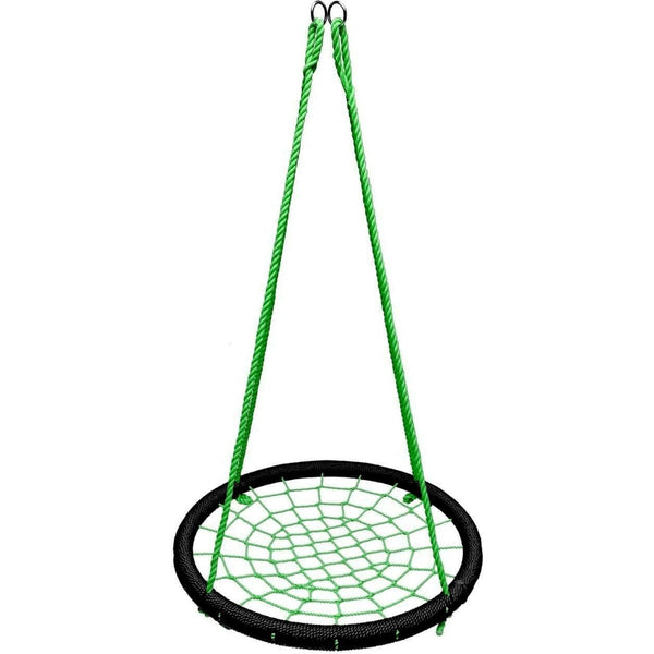 "40"" Giant Round Tree Swing - Black & Green-SkyBound-YardKid"