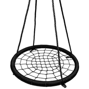 "40"" Giant Round Tree Swing - Black"