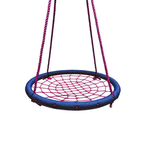 "40"" Giant Round Tree Swing - Blue & Red"