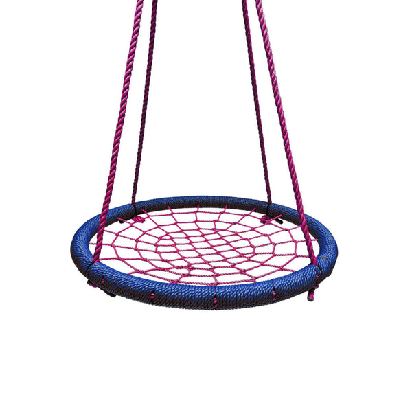 "40"" Giant Round Tree Swing - Blue & Red-SkyBound-YardKid"
