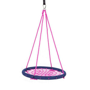 "40"" Giant Round Tree Swing - Navy Blue & Pink"