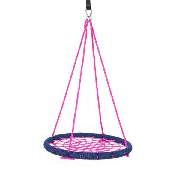 "40"" Giant Round Tree Swing - Navy Blue & Pink-SkyBound-YardKid"