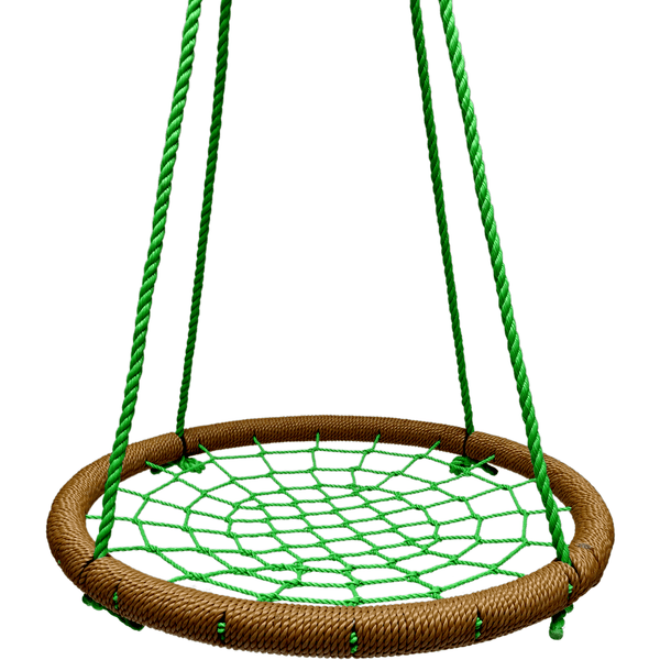 "40"" Giant Round Tree Swing - Tan & Green-SkyBound-YardKid"