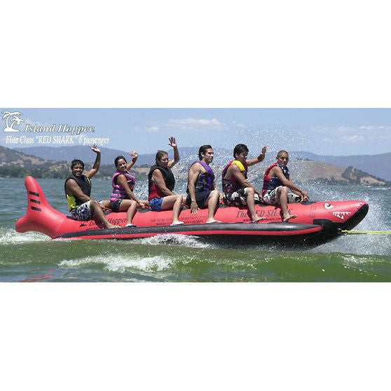 "6 Passenger Red Shark Banana Boat ""Elite Class""-Island Hopper-YardKid"