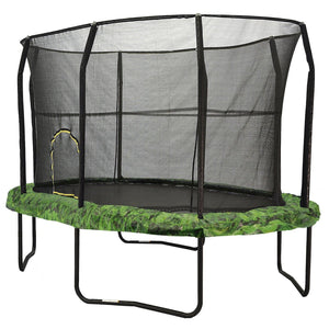 8x12 Oval Trampoline with Enclosure - Fern