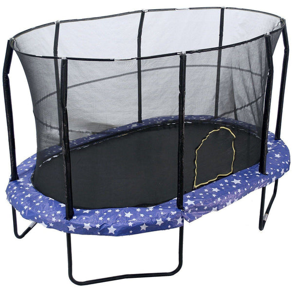 9x14 Oval Trampoline with Enclosure - American Stars-Jumpking-YardKid