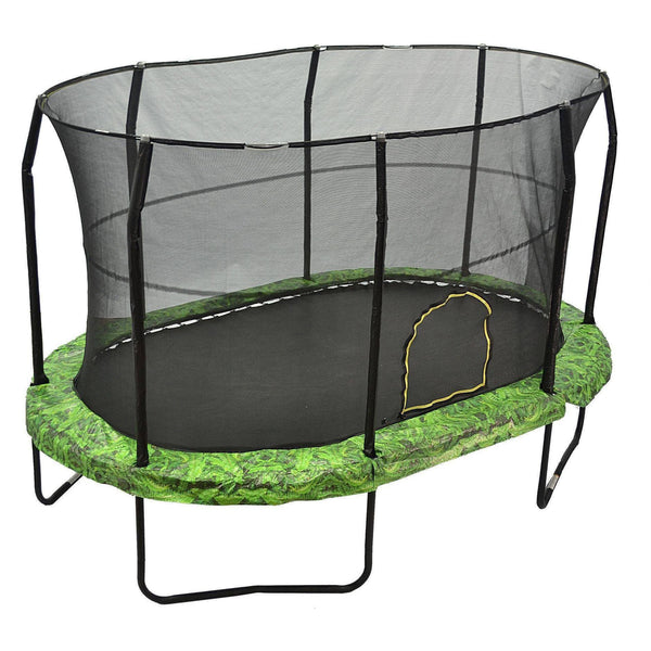 9x14 Oval Trampoline with Enclosure - Fern-Jumpking-YardKid