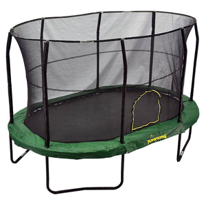 9x14 Oval Trampoline with Enclosure - Green
