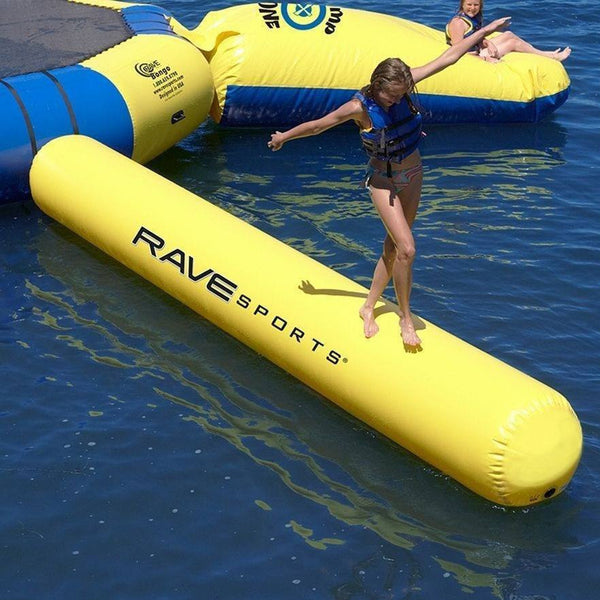 Aqua Log Water Trampoline Attachment, Large, Yellow-RAVE Sports-YardKid