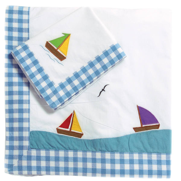 Boat Duvet Cover Set-Win Green-YardKid