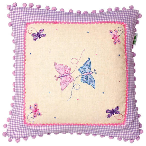Butterfly Cottage Cushion / Pillow Cover-Win Green-YardKid
