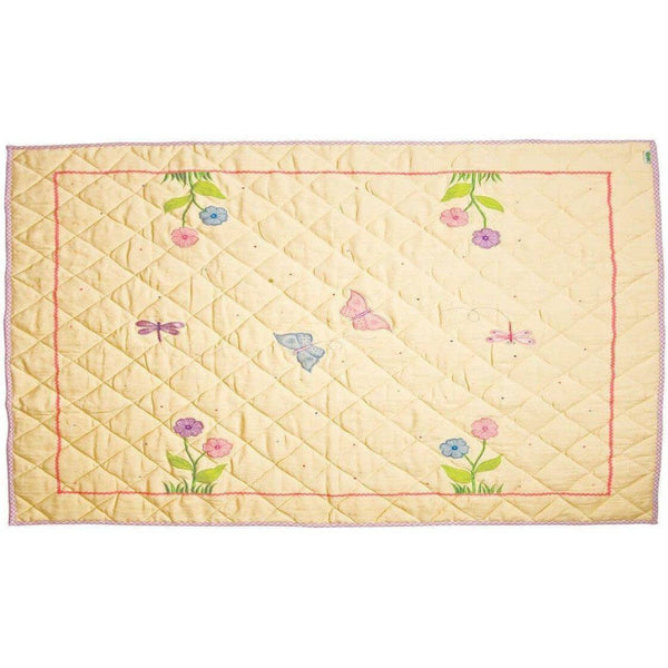 Butterfly Cottage Floor Quilt-Win Green-YardKid