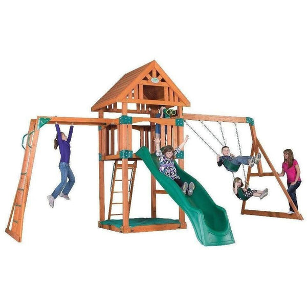 Capitol Peak Wooden Swing Set-Backyard Discovery-YardKid