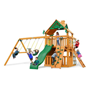 Chateau Clubhouse Swing Set - Optional Treehouse and Fort - Various Roofs